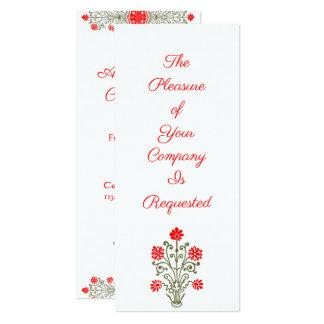 Elegant Gold & Red Floral Art Custom Invitations