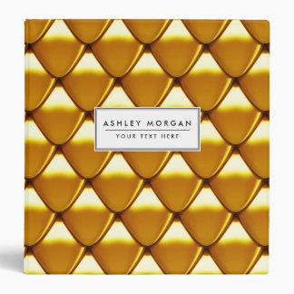 Elegant Gold Scale Pattern 3 Ring Binder