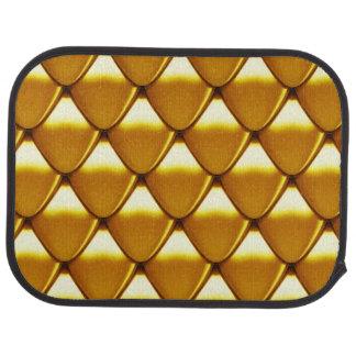 Elegant Gold Scale Pattern Car Carpet