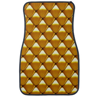 Elegant Gold Scale Pattern Car Floor Carpet