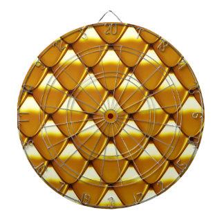 Elegant Gold Scale Pattern Dart Boards