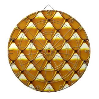 Elegant Gold Scale Pattern Dartboard