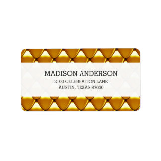 Elegant Gold Scale Pattern Label