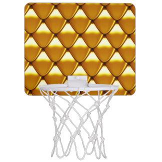 Elegant Gold Scale Pattern Mini Basketball Hoop