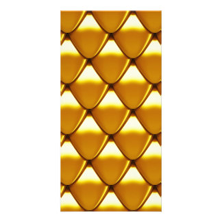 Elegant Gold Scale Pattern Photo Greeting Card