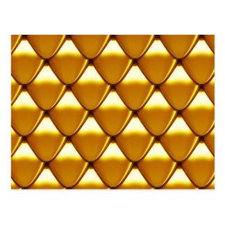 Elegant Gold Scale Pattern Postcard