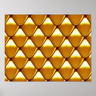 Elegant Gold Scale Pattern Poster