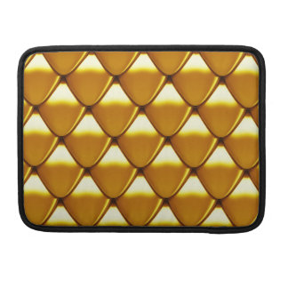 Elegant Gold Scale Pattern Sleeve For MacBook Pro