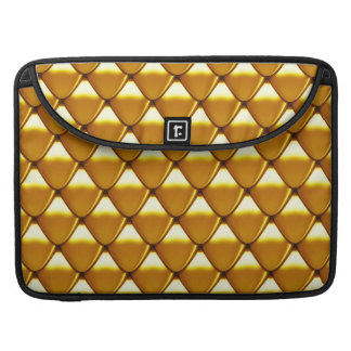 Elegant Gold Scale Pattern Sleeve For MacBooks