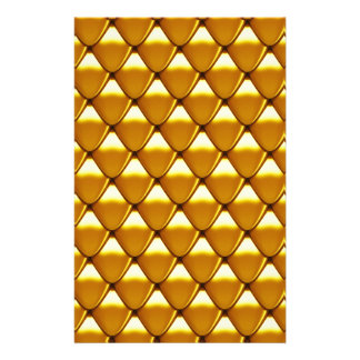 Elegant Gold Scale Pattern Stationery