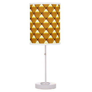 Elegant Gold Scale Pattern Table Lamp