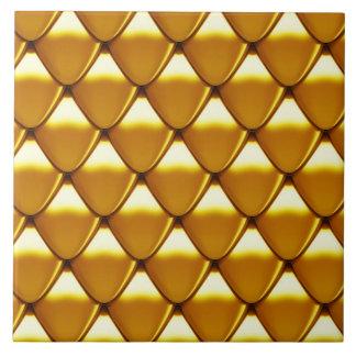 Elegant Gold Scale Pattern Tile