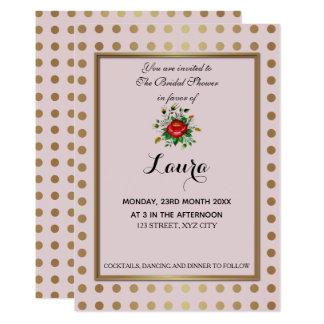 Elegant Gold & shades of Grey Bridal Shower Card