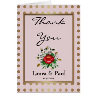 Elegant Gold & shades of Grey Thank You Card
