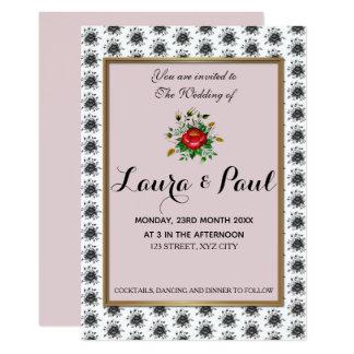 Elegant Gold & shades of Grey Wedding Card