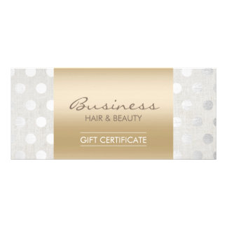 Elegant Gold & Silver Dots Salon Gift Certificates