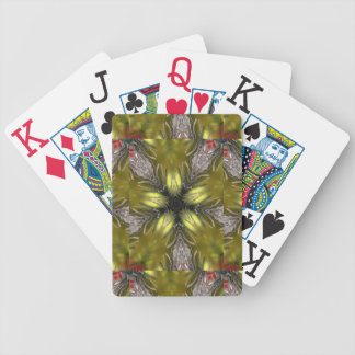 Elegant Gold Silver Kaleidoscope Christmas Star Bicycle Playing Cards