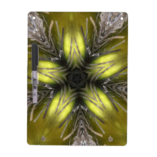 Elegant Gold Silver Kaleidoscope Christmas Star Dry Erase Board