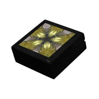 Elegant Gold Silver Kaleidoscope Christmas Star Gift Box