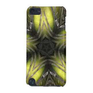 Elegant Gold Silver Kaleidoscope Christmas Star iPod Touch (5th Generation) Case