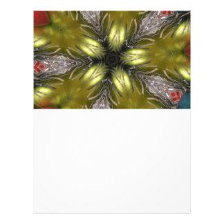 Elegant Gold Silver Kaleidoscope Christmas Star Letterhead