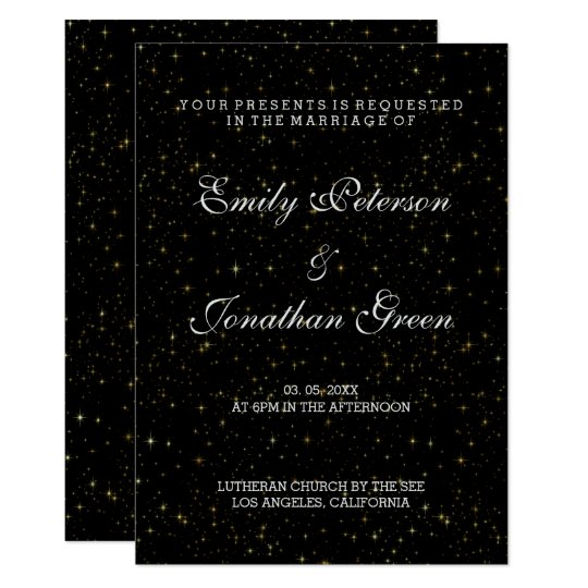 Elegant Gold Stars-Wedding Invitations