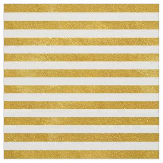Elegant Gold Stripe -Custom Your Color- Fabric