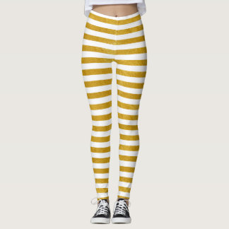 Elegant Gold Stripe -Custom Your Color- Leggings