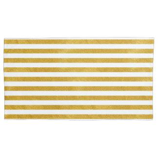 Elegant Gold Stripe -Custom Your Color- Pillowcase