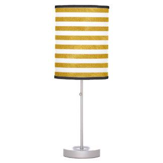 Elegant Gold Stripe -Custom Your Color- Table Lamp