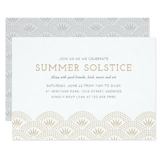 Elegant Gold Summer Solstice Party Invitation