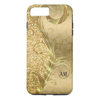 Elegant Gold Swirls And Glitter iPhone 8 Plus/7 Plus Case