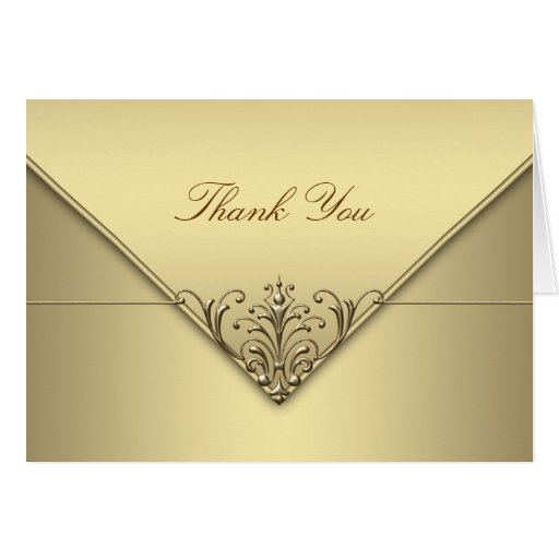 Elegant Gold Thank You Cards