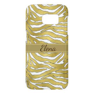 Elegant Gold Tiger Stripes Samsung Galaxy S7 Case