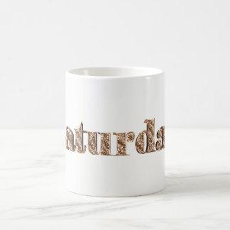 Elegant Gold Typography Day of The Week Saturday Coffee Mug