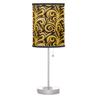 Elegant Gold Verdure Pattern Table Lamp