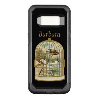 Elegant gold Victorian Bird Cage Snow Cabin OtterBox Commuter Samsung Galaxy S8 Case