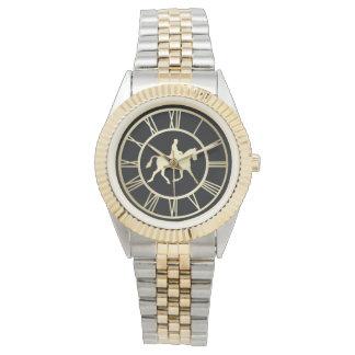 Elegant Gold Vintage Equestrian Roman Numeral Watch
