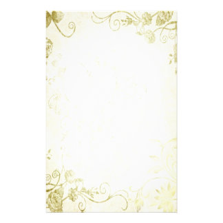 Elegant Gold Vintage Wedding Stationery Paper