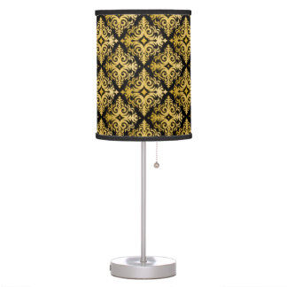 Elegant Gold Vonster Pattern Table Lamp