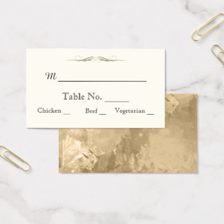 Elegant Gold Watercolor Wedding Place Cards