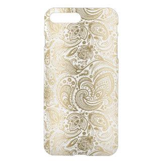 Elegant Gold & White Floral Paisley iPhone 8 Plus/7 Plus Case