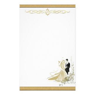 Elegant Gold & White Wedding Stationery