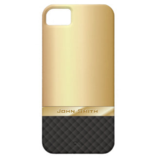 Elegant Gold with Custom Name iPhone 5 Case