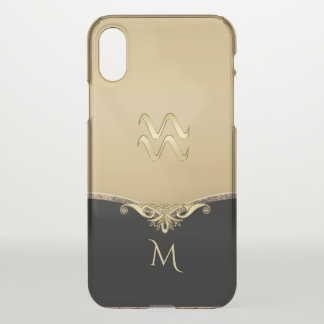 Elegant Gold Zodiac Sign Aquarius iPhone 7 Case