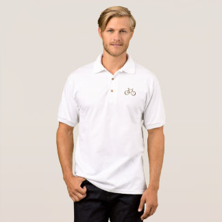 Elegant Golden Bike Bicycle Cycling Cyclist Polo Shirt