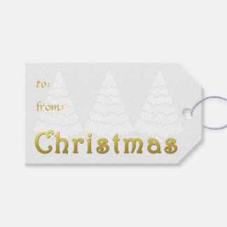 Elegant Golden Christmas Gift Tags