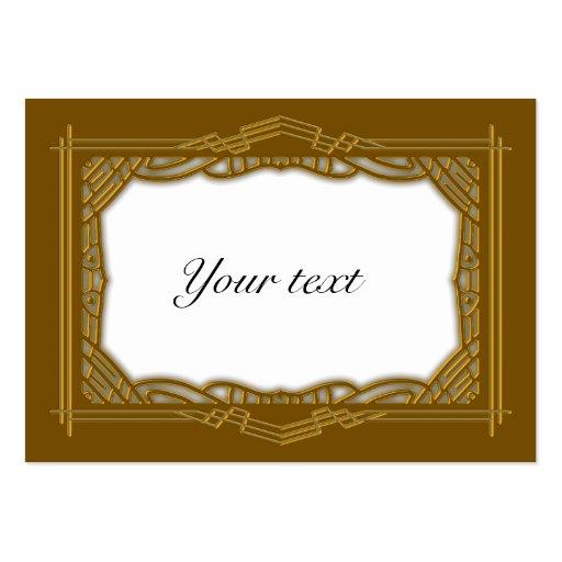 Elegant Golden Christmas Tag Business Card