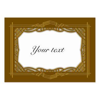 Elegant Golden Christmas Tag Large Business Card