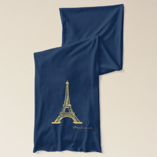 Elegant Golden Eiffel Tower | Paris Scarf